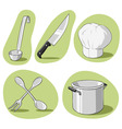 vector set of kitchenware vector image vector image