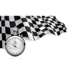 checkered flag with a stopwatch background vector image vector image