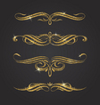 Glitter gold flourishes design elements vector image vector image