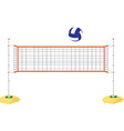 Volleyball net and ball vector image