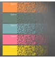 Set of Colorful Pixel Banners vector image