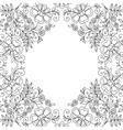 Flower design lace frame vector image vector image