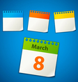 calendar stickers vector image