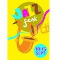 Autumn Jazz Festival Concept vector image
