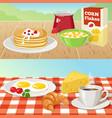 Breakfast outdoor concepts vector image