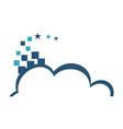 cloud pixel vector image