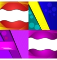 Collection of abstract multicolored backgrounds vector image