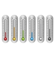Different Colors Thermometers vector image