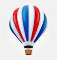 hot air balloon in flight isolated on white vector image