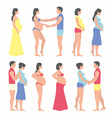 Pregnant woman with a man vector image