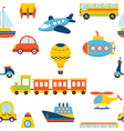 Seamless pattern with colorful transport Cute vector image