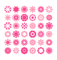 set of flowers icons vector image
