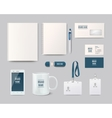 Template objects for corporate identity vector image
