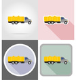 truck flat icons 05 vector image
