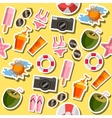 Beach flat collage vector image
