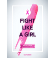 Breast Cancer Awareness Month Design Pink Brush vector image