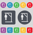 Suicide concept icon sign A set of 12 colored vector image
