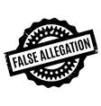 False Allegation rubber stamp vector image