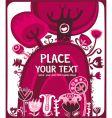 valentine pink meadow vector image vector image