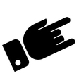 Hand showing rock icon vector image