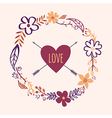 vintage floral frame Can be used for wedding vector image