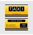 Taxi service card vector image