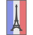 Paris symbol on flag of France background vector image