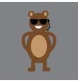 flat icon on gray background bear cartoon vector image