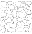 Set of Cartoon Speech and Thought Bubbles vector image