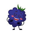 Cute and funny comic style blackberry character vector image