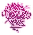 Happy Valentines Day Graffiti vector image
