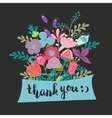lettering thank you flowers vector image