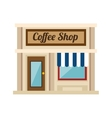 little coffee shop store vector image