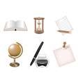 Icon set school and business themes vector image