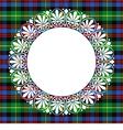 Scottish tartan Black Watch with frame vector image vector image