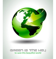 3d earth design vector image vector image