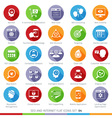SEO icons set 04F vector image vector image
