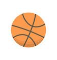 cartoon basketball ball isolated vector image