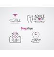 Collection of cute Sex shop logo and badge design vector image