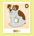 d is for dog letter c dog cute vector image