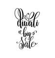 diwali big sale black calligraphy hand lettering vector image