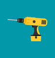 drill flat icon isolated on color background vector image