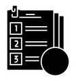 exam icon black sign on vector image