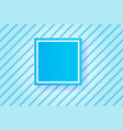 frame blue line backgroundpaper cut style vector image