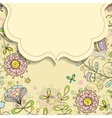 frame on the background of flower doodles patterns vector image