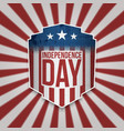 greeting card with us flag design vector image