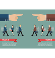 Infographic of mechanical business men and women vector image