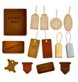 Set of leather and jeans labels and tags vector image
