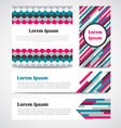 Set of modern striped abstract poster banners vector image