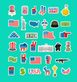 usa icon national sign of america american flag vector image